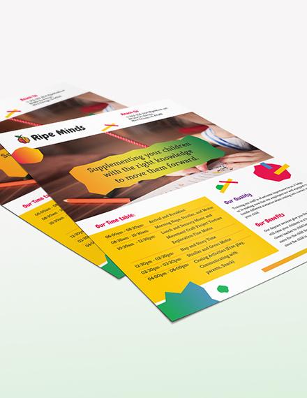 Daycare Flyer Download