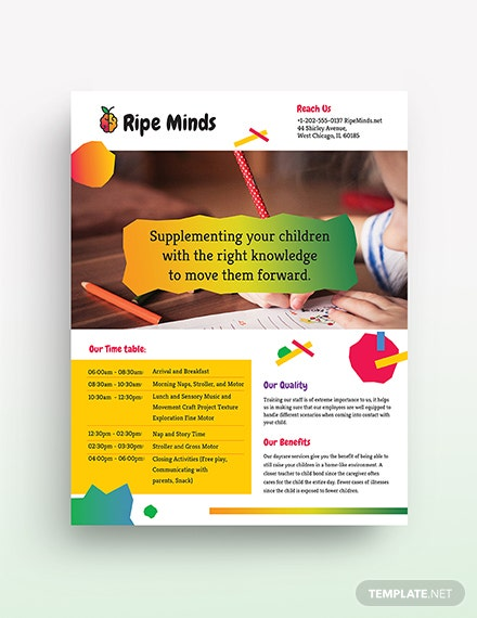 daycare flyer template