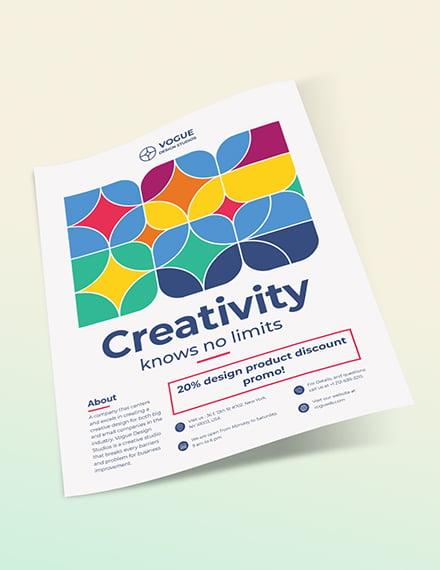 Design Studio Flyer Sample