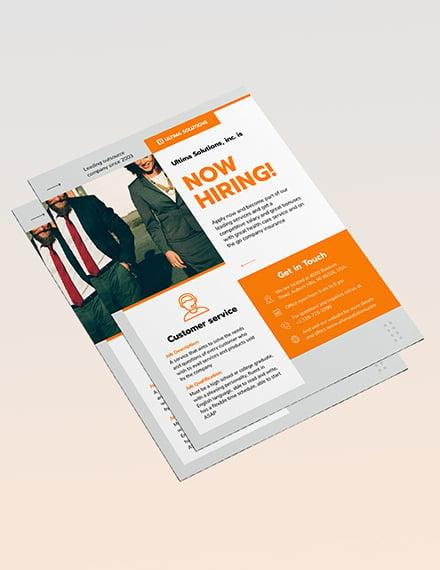 Employee Recruitment Flyer Sample