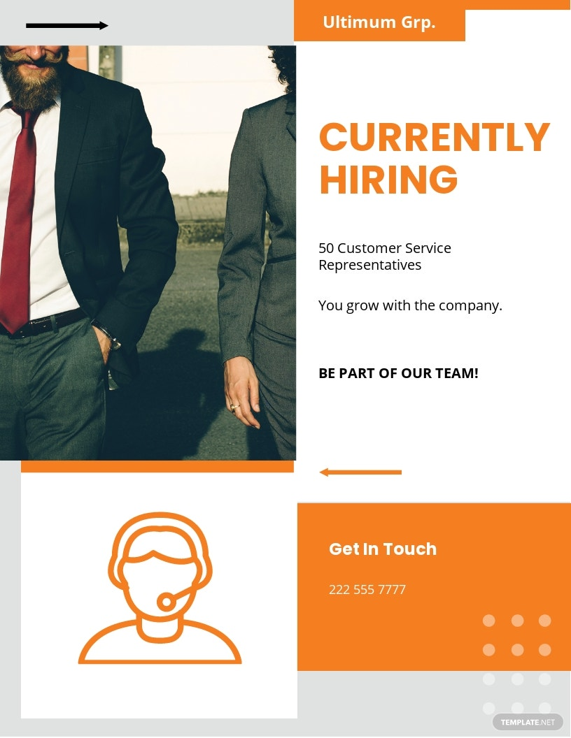 Employee Recruitment Flyer Template [Free JPG] - Google Docs, Illustrator, InDesign, Word, Apple Pages, PSD, Publisher