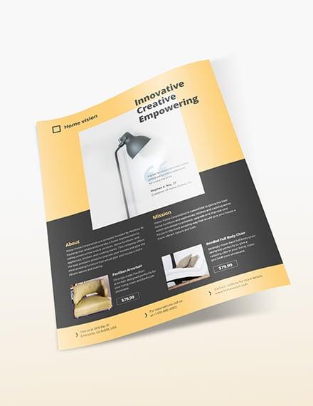 Sample Furniture Company Flyer