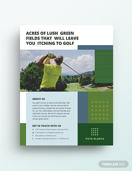 golf course flyer template