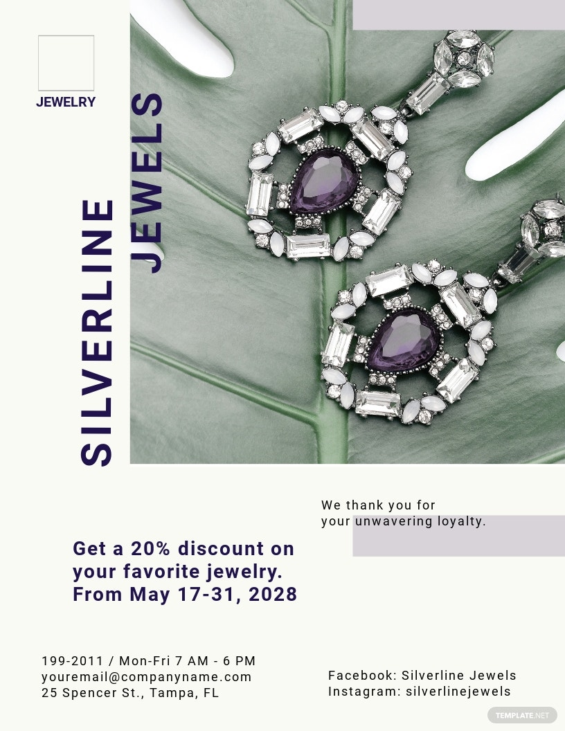 Jewelry Boutique Flyer Template