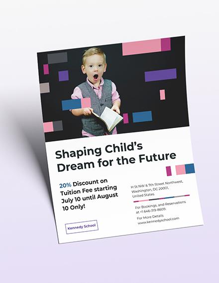 Preschool Promotional Flyer Download