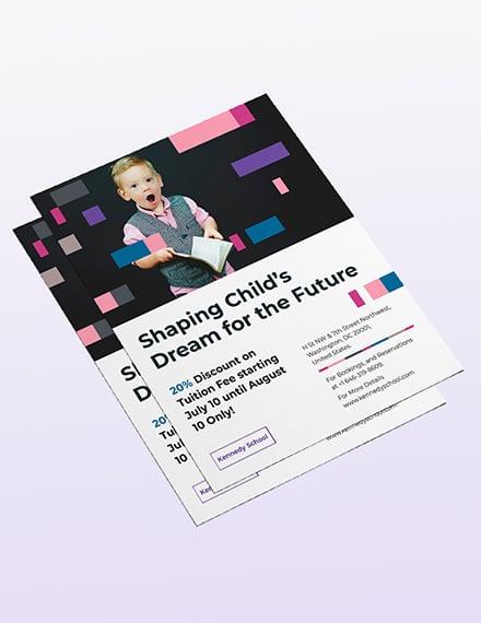 Preschool Promotional Flyer Sample