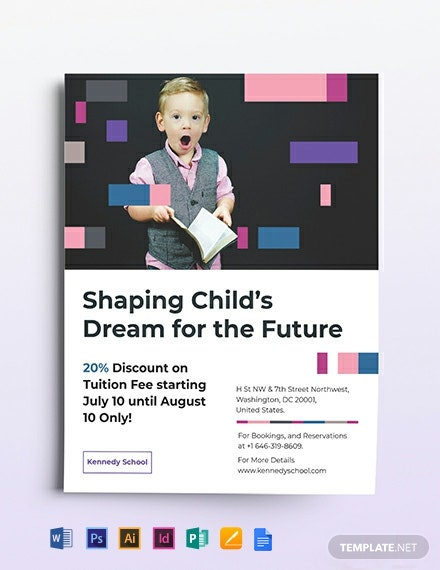 Preschool Promotional Flyer Template