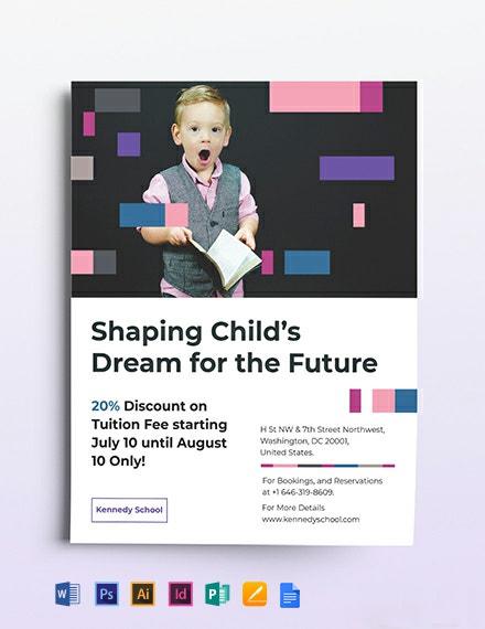 Preschool Promotional Flyer Template