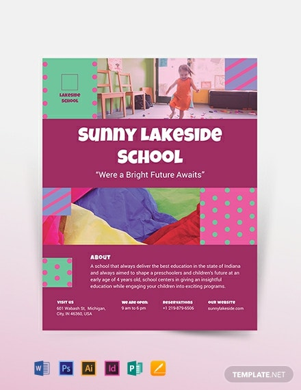 simple preschool flyer template 440x570 1