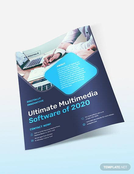 Sample Software Company Flyer