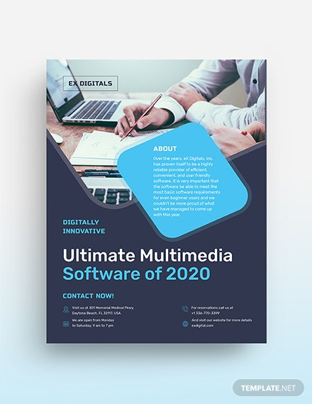 Software Company Flyer Template