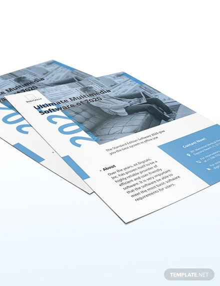 Sample Software Company Marketing Flyer