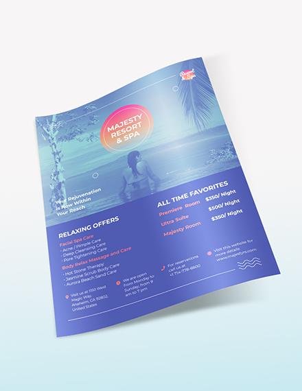 Sample Spa Resort Flyer