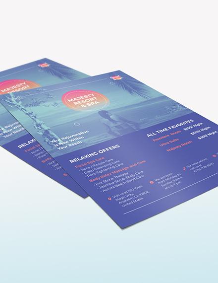 Spa Resort Flyer Download