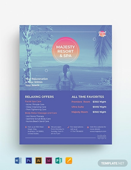 Spa Resort Flyer Template