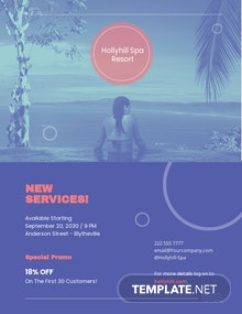 Spa Resort Flyer Template