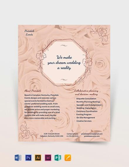 Wedding Event Planner Flyer Template