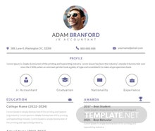 Free Simple Junior Accountant Resume Template