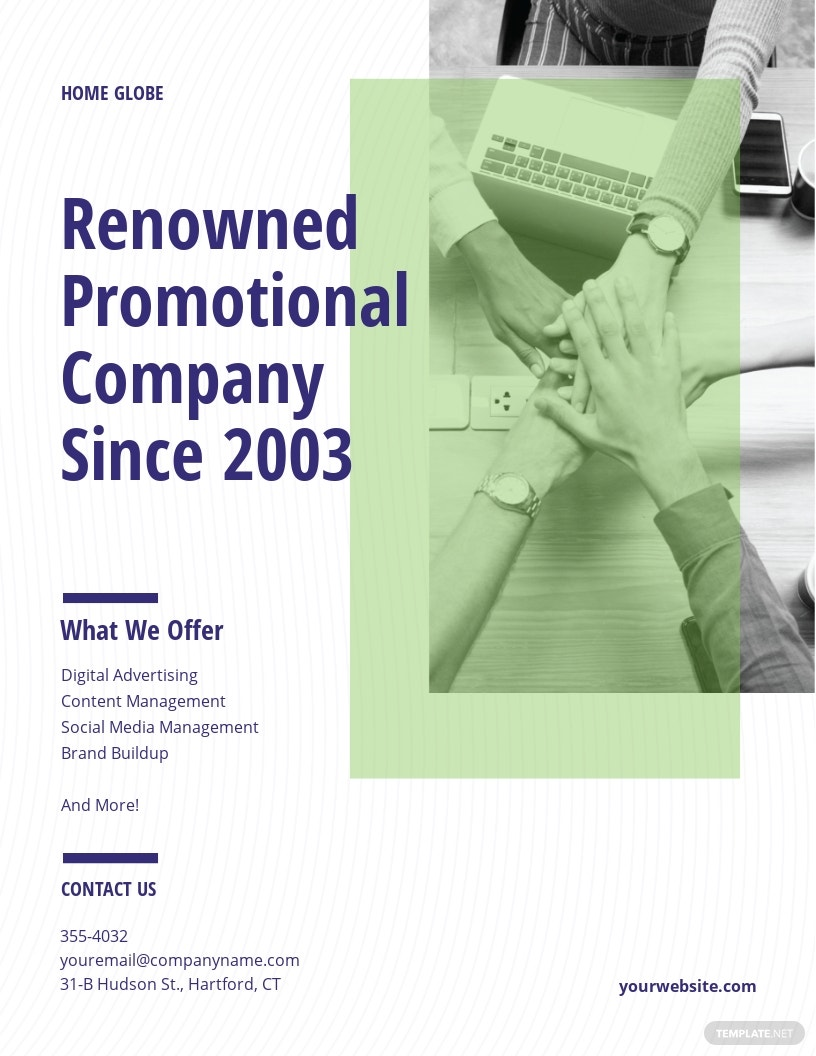 Company Promotional Flyer Template