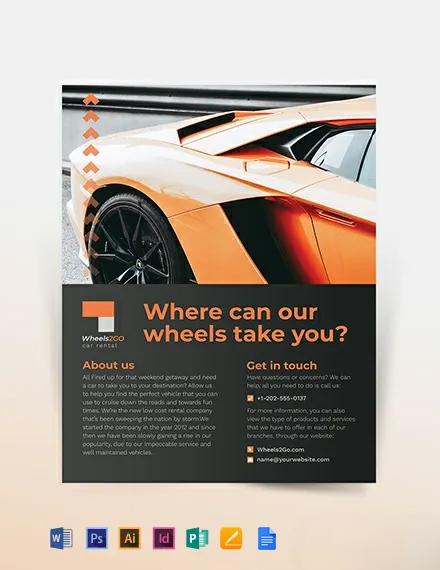 Car Rental Company Flyer Template