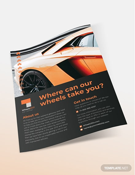 Car Rental Flyer Sample