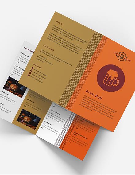 Brew Pub Takeout Bifold Brochure Download