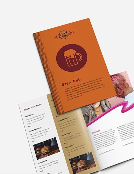Sample Brew Pub Takeout Bifold Brochure