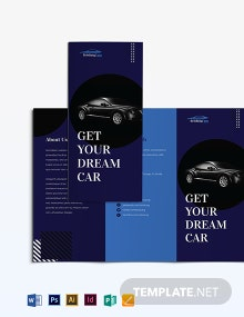 Car Sale Brochure Template