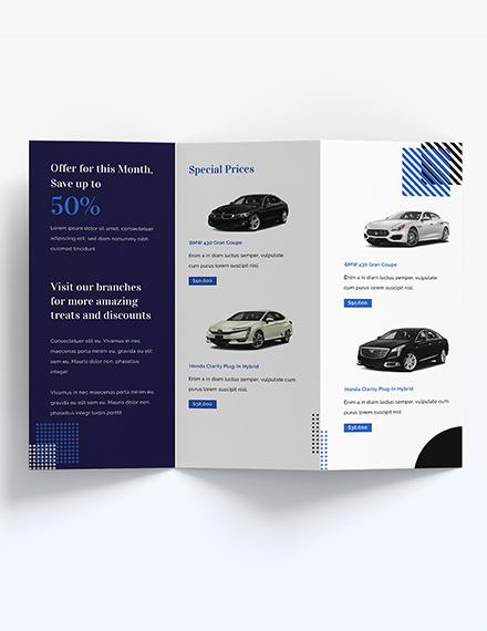 Sample Car Sale Brochure