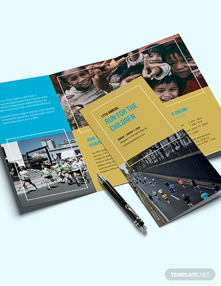 Charity Event Brochure Template [Free Publisher] - Illustrator, InDesign, Word, Apple Pages, PSD