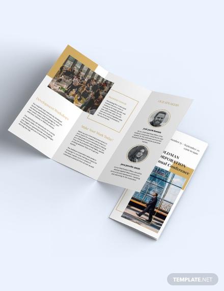 Corporate Event Brochure Template