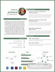 Free Junior Accountant Resume Template