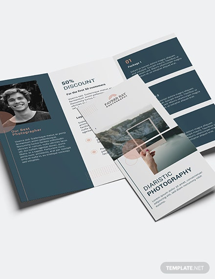 Creative Photography Brochure Template [Free Publisher] - Illustrator, InDesign, Word, Apple Pages, PSD