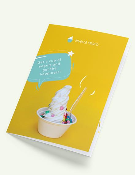 Frozen Yogurt Shop Takeout Bifold Brochure Download