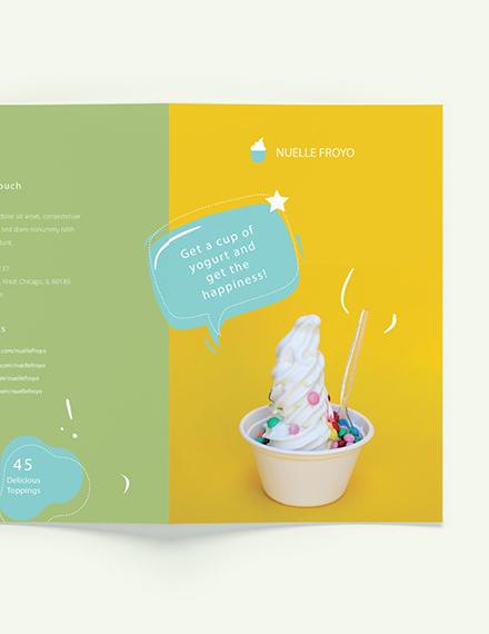 Sample Frozen Yogurt Shop Takeout Bifold Brochure