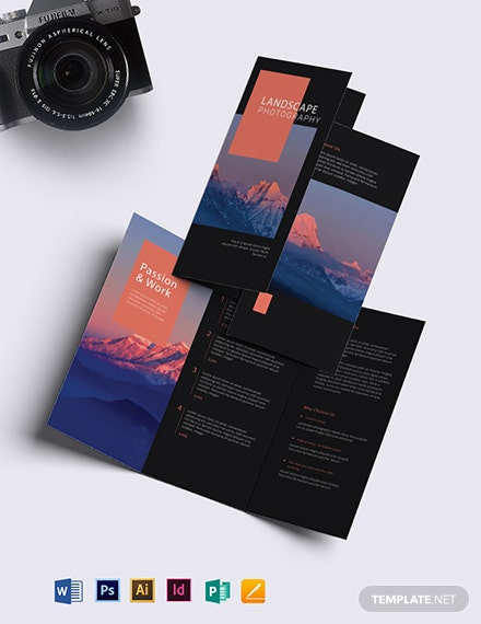Landscape Photography Brochure Template