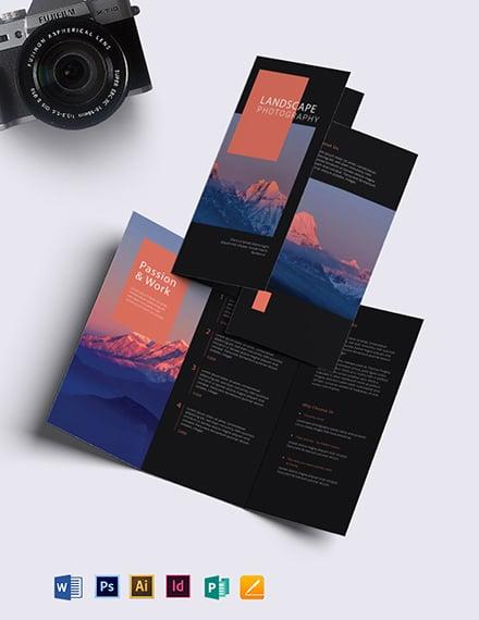Landscape Photography Brochure Template