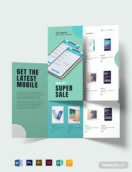 Mobile Product Sale Brochure Template