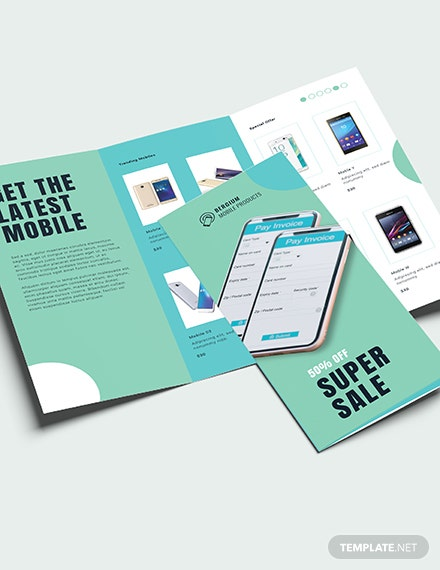 Sample Mobile Product Sale Brochure