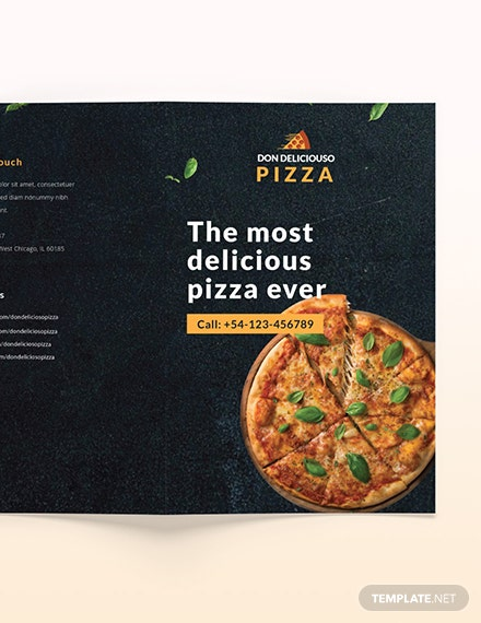 Sample Pizza Parlor Takeout Bifold Brochure
