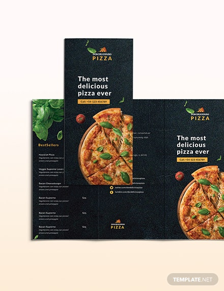 Pizza Parlor Takeout Trifold Brochure Download