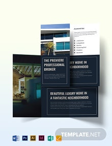 Property Sale Brochure Template