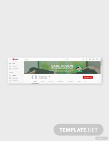 Free Game YouTube Channel Art Template