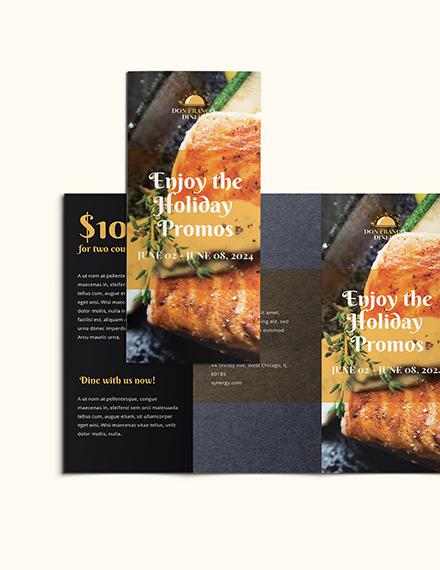 Sample Sale Promotion Brochure