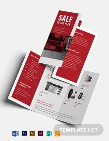Electronic Sales Brochure Template
