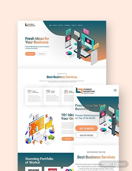 Marketing Agency Landing Page WordPress Theme