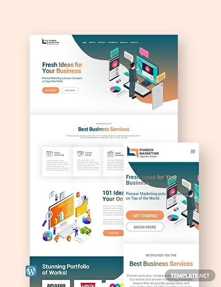 Marketing Agency WordPress Theme/Template