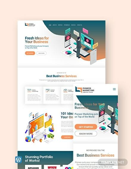 Marketing Agency WordPress Theme/Template