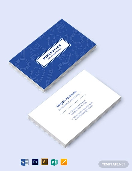 Creative Social Media Business Card Template