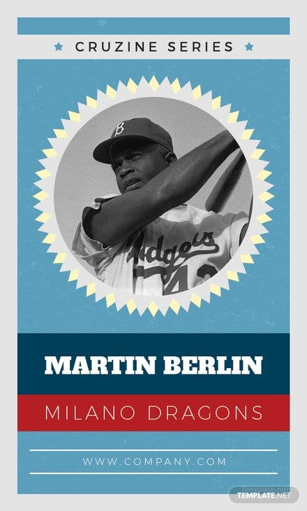 Free Baseball Trading Card Template